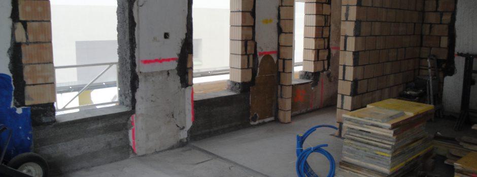 Raiffeisen Umbau/Innen Mauern 2012