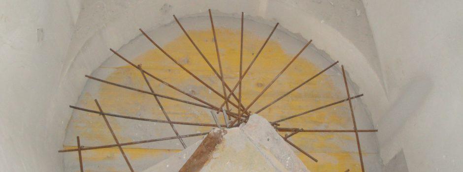 Raiffeisen Umbau/Treppe Armierung 2012