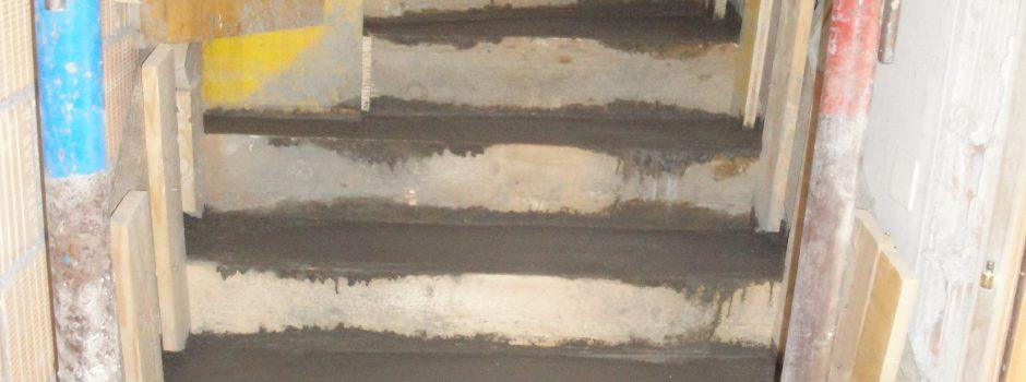 Raiffeisen Umbau/Treppe Innen Betonieren 2012