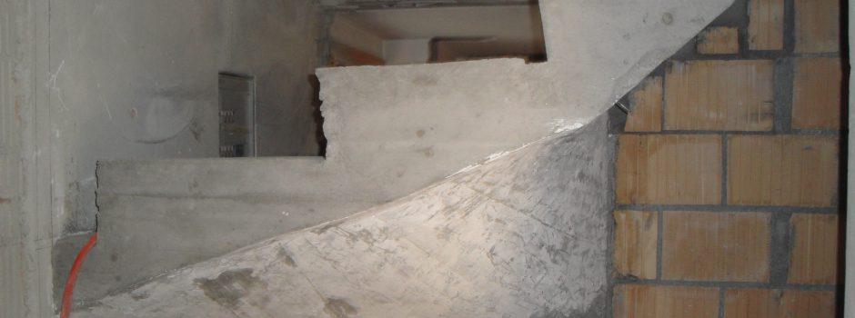 Raiffeisen Umbau/Treppe Innen Detail Ansicht fertig Betonieren 2012
